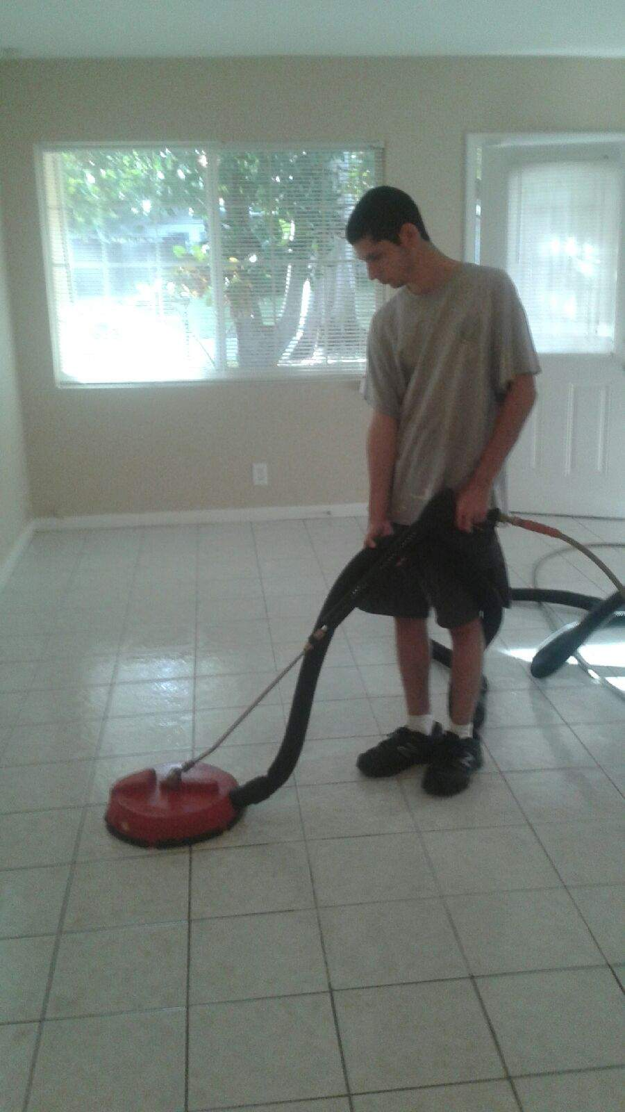 Tile and Grout Cleaning dirty and clean