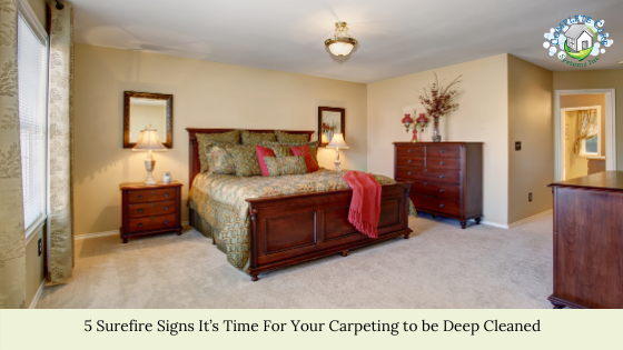 5 Surefire Signs It's Time For Your Carpeting to be Deep Cleaned